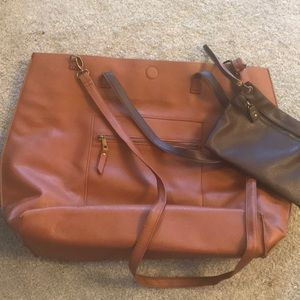 Extra Large Reversible Brown Tote